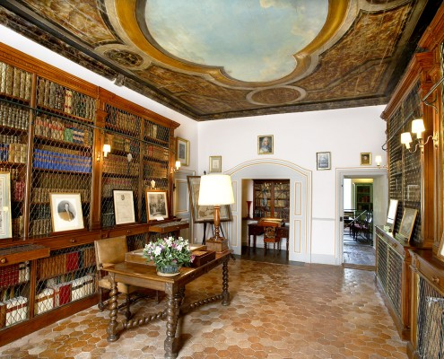 One of the libraries of the castle