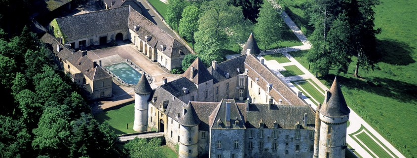 Château de Bazoches from the sky