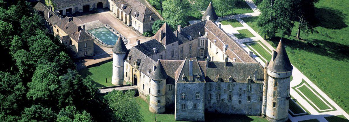 Château de Bazoches vu du ciel